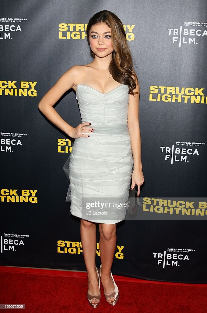 Sarah Hyland attends the 'Struck By Lighting' premiere held at Mann Chinese 6 on January 6, 2013 in Los Angeles, California.