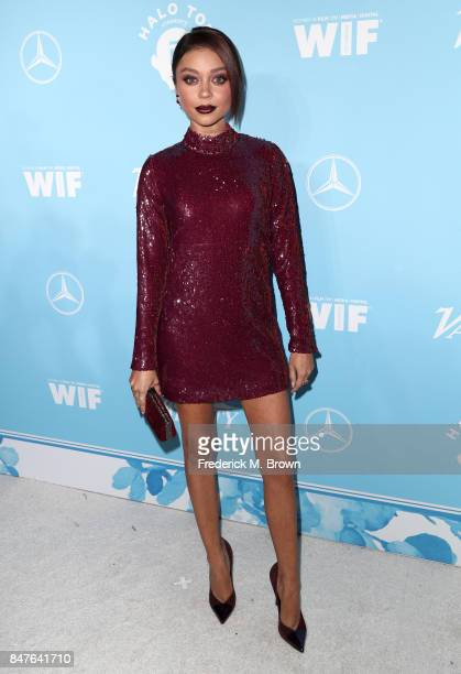 Sarah Hyland attends the Variety and Women In Film's 2017 PreEmmy Celebration at Gracias Madre on September 15 2017 in West Hollywood California