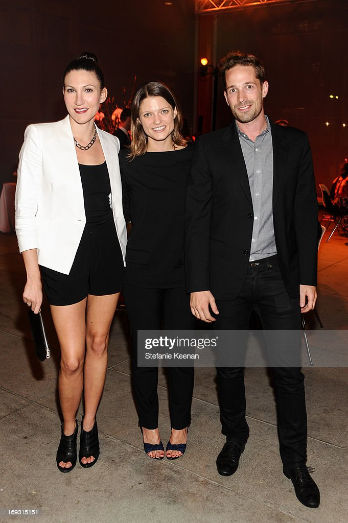 Sarah Jane Bruce, Abby Bangser and Andrew Luft attend LACMA Celebrates Opening Of James Turrell: A Retrospective at LACMA on May 22, 2013 in Los Angeles, California.