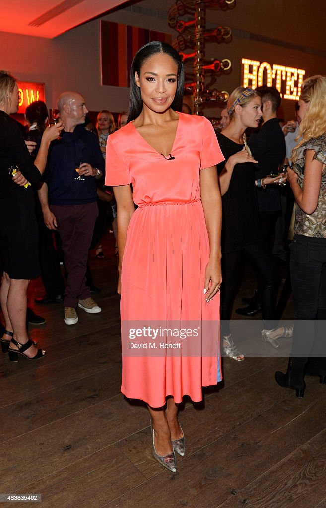 Sarah Jane Crawford attend the NYX Cosmetics Face Awards UK at the Ham Yard Hotel on August 13 2015 in London England