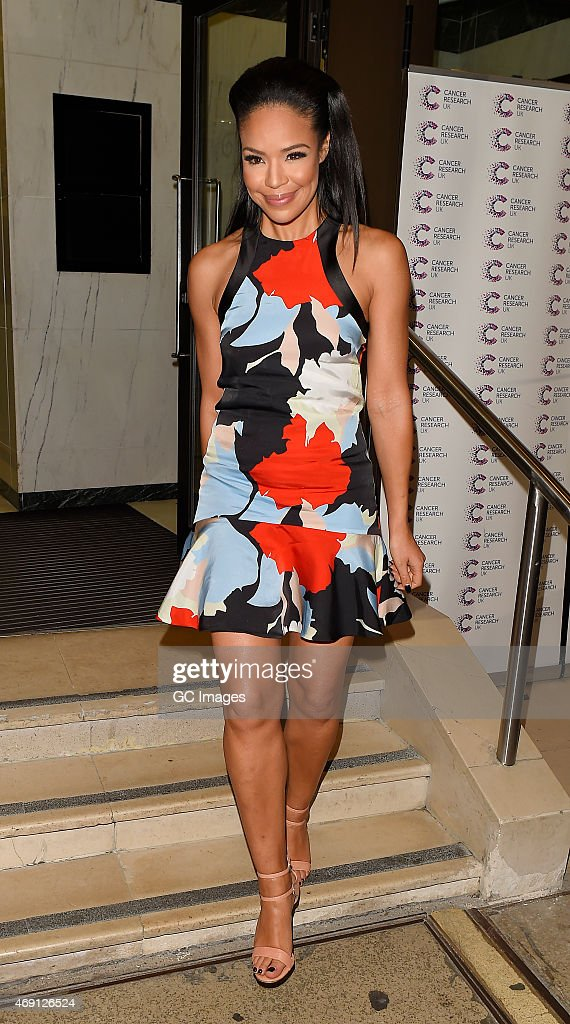 Sarah Jane Crawford attends James Ingham's Jog on to Cancer Research UK event at Kensington Roof Gardens on April 9 2015 in London England