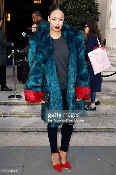 Sarah Jane Crawford attends the A/W 16 Felder Felder Catwalk Show at the Freemasons Hall on February 19 2016 in London England