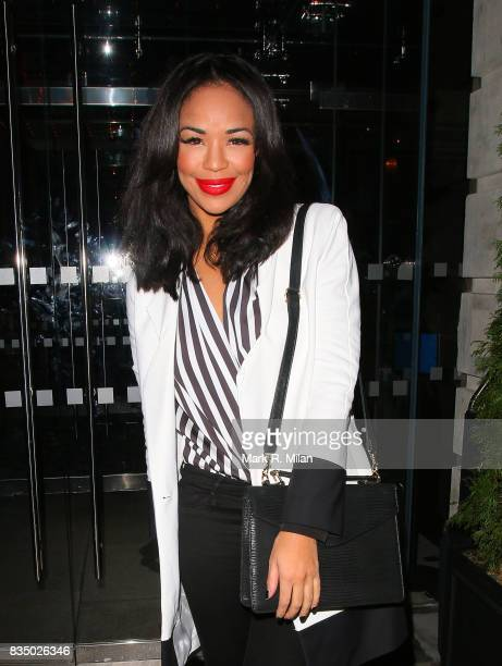 Sarah Jane Crawford attends the GUESS Loves Priyanka VIP Dinner at the London Edition Hotel on January 20 2014 in London England