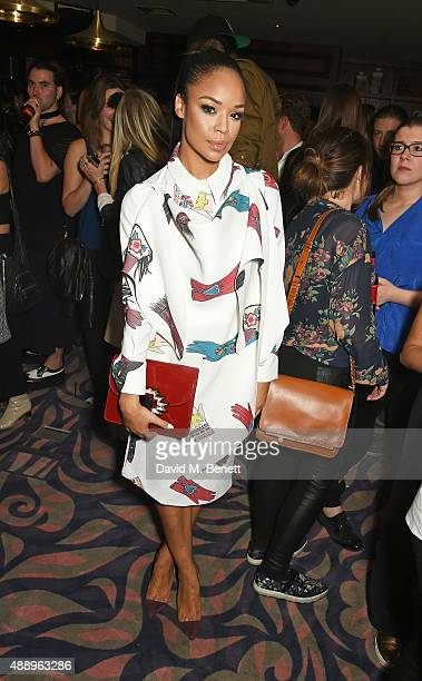 Sarah Jane Crawford attends the Hunger Magazine Issue 9 Launch Party with Crystal Head Vodka during at the Tape London Members Club London Fashion...