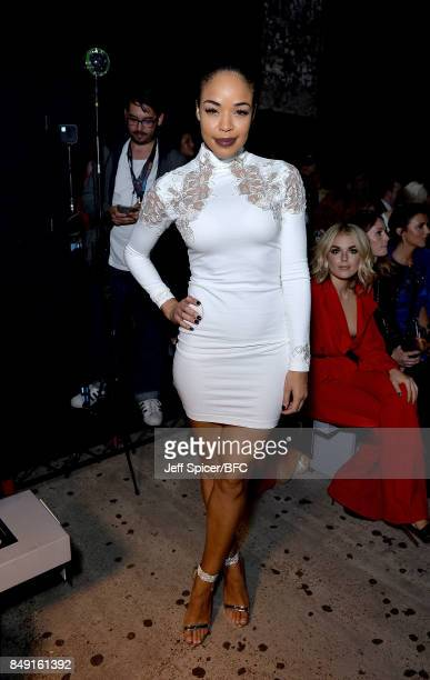 Sarah Jane Crawford attends the Julien Macdonald show during London Fashion Week September 2017 on September 18 2017 in London England