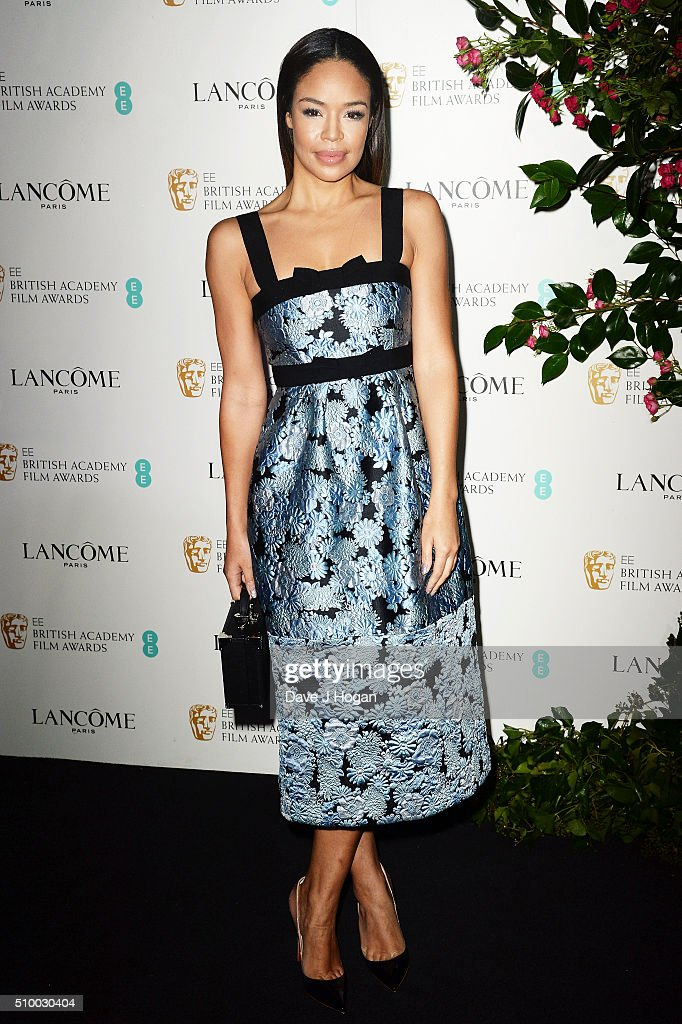 Sarah Jane Crawford attends the Lancome BAFTA nominees party at Kensington Palace on February 13 2016 in London England