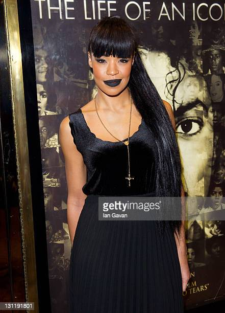 Sarah Jane Crawford attends the world premiere of 'Michael Jackson The Life Of An Icon' at The Empire Cinema on November 2 2011 in London England