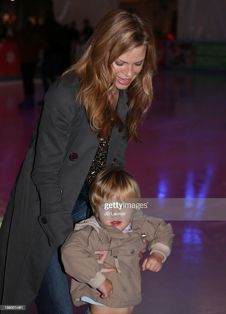 Sarah Jane Morris and Emmett Brower attend the Disney On Ice 'Dare To Dream' Red Carpet Opening Night at LA Kings Holiday Ice at L.A. LIVE on December 12, 2012 in Los Angeles, California.