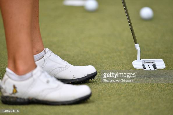 Sarah Jane Smith of Australia practices during the final round of Honda LPGA Thailand at Siam Country Club on February 26 2017 in Chonburi Thailand