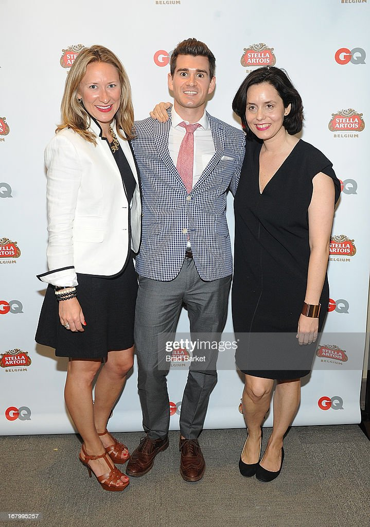Sarah Jarvis, Mark Lloyd and Alice Mckown attend the GQ Derby Style Event Presented By Stella Artois on May 3, 2013 in Louisville, Kentucky.