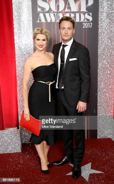 Sarah Jayne Dunn and Gary Lucy attend The British Soap Awards at The Lowry Theatre on June 3 2017 in Manchester England The Soap Awards will be aired...