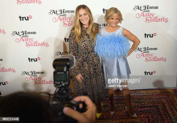 """Sarah Jessica Parker and Amy Sedaris attend the premiere screening and party for truTV's new comedy series """"At Home with Amy Sedaris"""" at The Bowery..."""