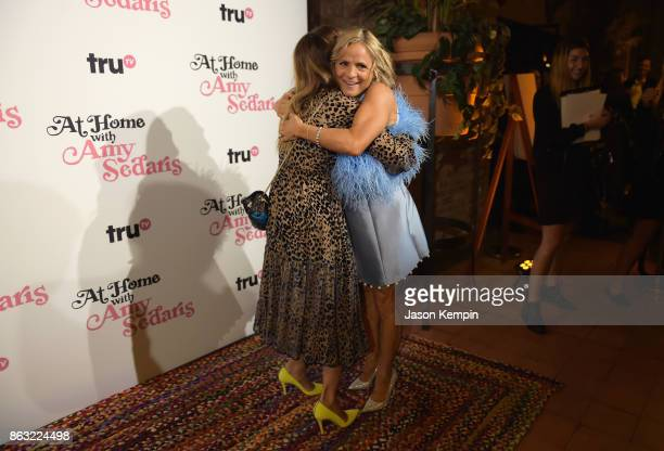 """Sarah Jessica Parker and Amy Sedaris embrace during the premiere screening and party for truTV's new comedy series """"At Home with Amy Sedaris"""" at The..."""