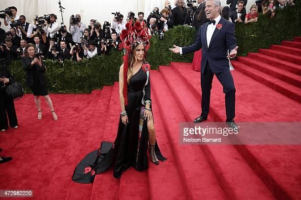 Sarah Jessica Parker and Andy Cohen attend the 'China Through The Looking Glass' Costume Institute Benefit Gala at the Metropolitan Museum of Art on...
