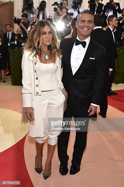 Sarah Jessica Parker and Andy Cohen attend the 'Manus x Machina Fashion In An Age Of Technology' Costume Institute Gala at Metropolitan Museum of Art...