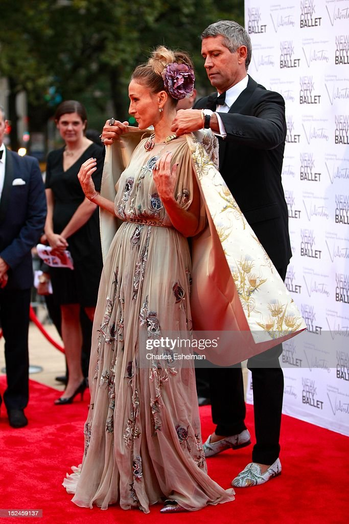 <a gi-track='captionPersonalityLinkClicked' href=/galleries/search?phrase=Sarah+Jessica+Parker&family=editorial&specificpeople=201693 ng-click='$event.stopPropagation()'>Sarah Jessica Parker</a> and Carlos Souza attend the 2012 New York City Ballet fall gala at David H. Koch Theater, Lincoln Center on September 20, 2012 in New York City.