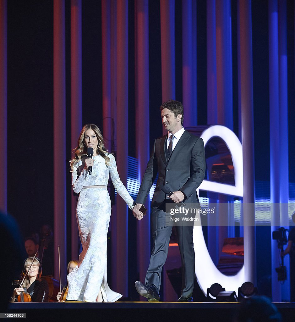 Sarah Jessica Parker and Gerard Butler attend the Nobel Peace Prize Concert 2012 at Oslo Spektrum on December 11, 2012 in Oslo, Norway.