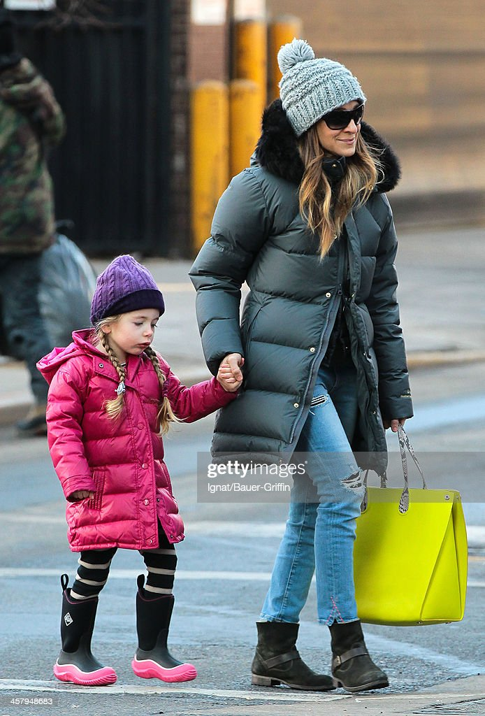Sarah Jessica Parker and her daughter Tabitha Broderick are seen on December 19 2013 in New York City