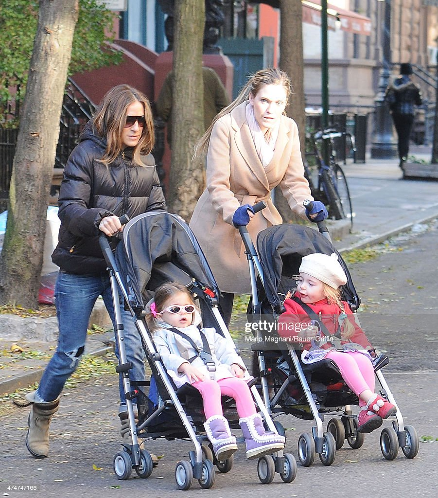 Sarah Jessica Parker and her twin daughters Marion and Tabitha Broderick are seen on November 09 2012 in New York City