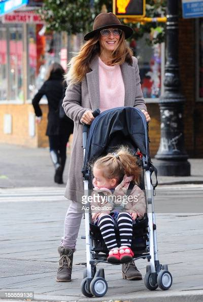 Sarah Jessica Parker and Marion Loretta Elwell Broderick are seen in the West Village at Streets of Manhattan on November 5 2012 in New York City