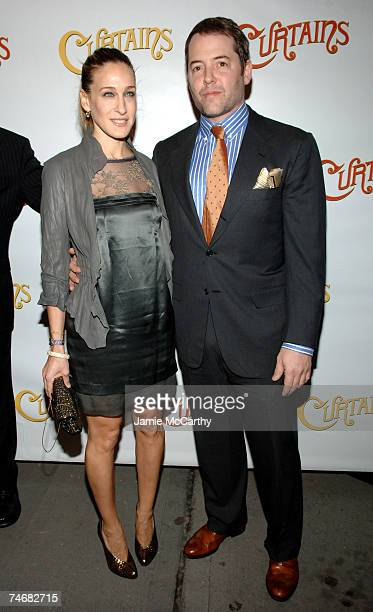 Sarah Jessica Parker and Mathew Broderick at the Hirschfeld Theatre in New York City New York