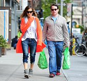 Sarah Jessica Parker and Matthew Broderick are seen in the West Village on May 6 2013 in New York City