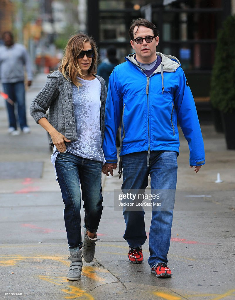 Sarah Jessica Parker and Matthew Broderick as seen on April 29 2013 in New York City