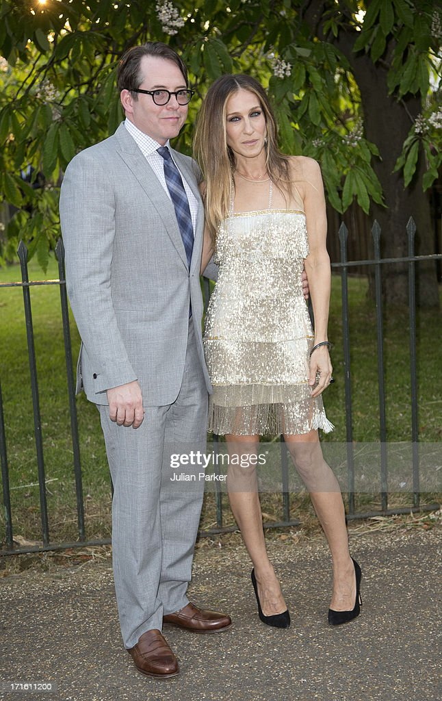 Sarah Jessica Parker, and Matthew Broderick attend the annual Serpentine Gallery summer party at The Serpentine Gallery on June 26, 2013 in London, England.