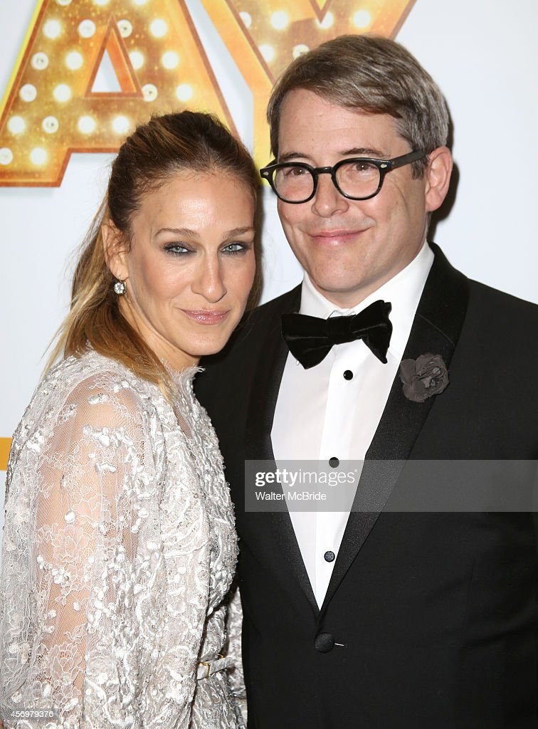 Sarah Jessica Parker and Matthew Broderick attend the Broadway Opening Night Performance After Party for 'It's Only A Play' at the Mariott Marquis on October 9, 2014 in New York City.