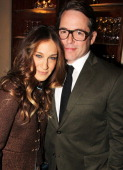 Sarah Jessica Parker and Matthew Broderick attends the opening night after party for 'The Commons Of Pensacola' at Brasserie 8 1/2 on November 21...
