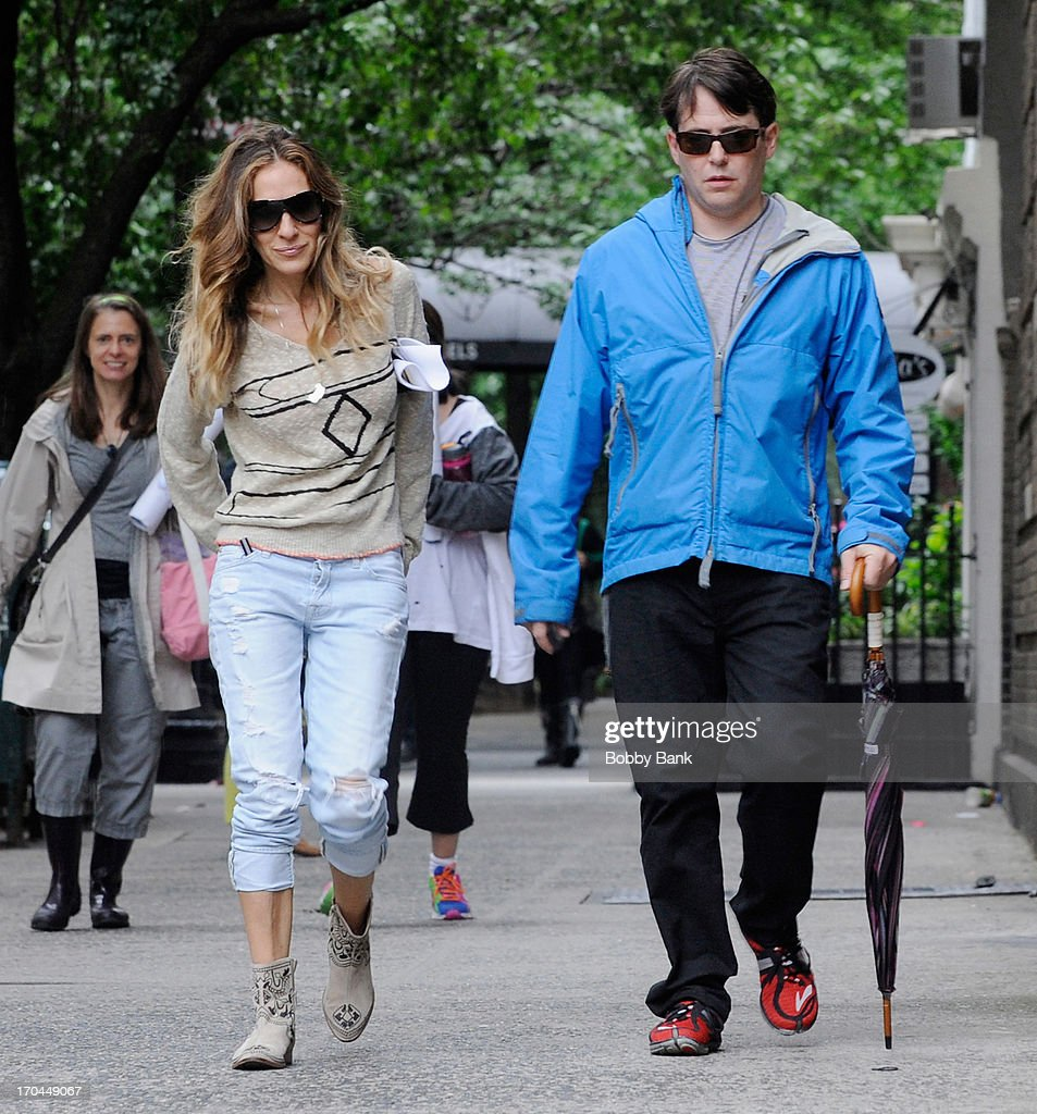 Sarah Jessica Parker and Matthew Broderick seen in the West Village on June 13, 2013 in New York City.