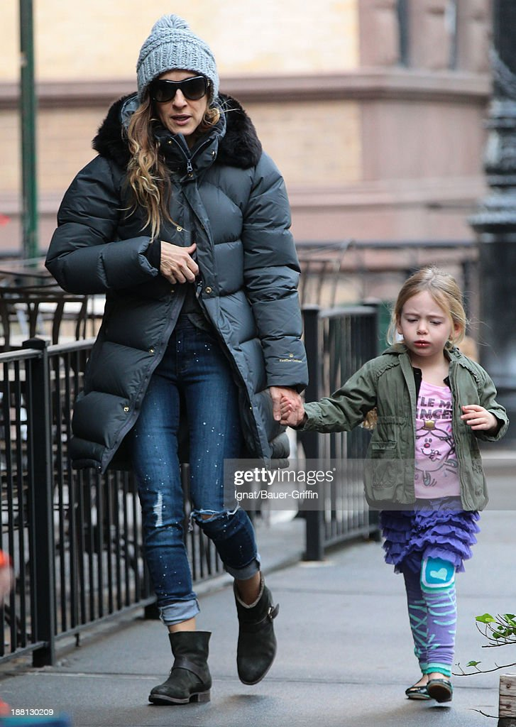 Sarah Jessica Parker and Tabitha Broderick are seen on November 15 2013 in New York City