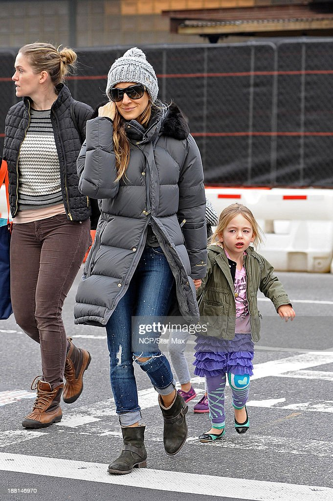 <a gi-track='captionPersonalityLinkClicked' href=/galleries/search?phrase=Sarah+Jessica+Parker&family=editorial&specificpeople=201693 ng-click='$event.stopPropagation()'>Sarah Jessica Parker</a> and Tabitha Broderick are seen on November 15, 2013 in New York City.
