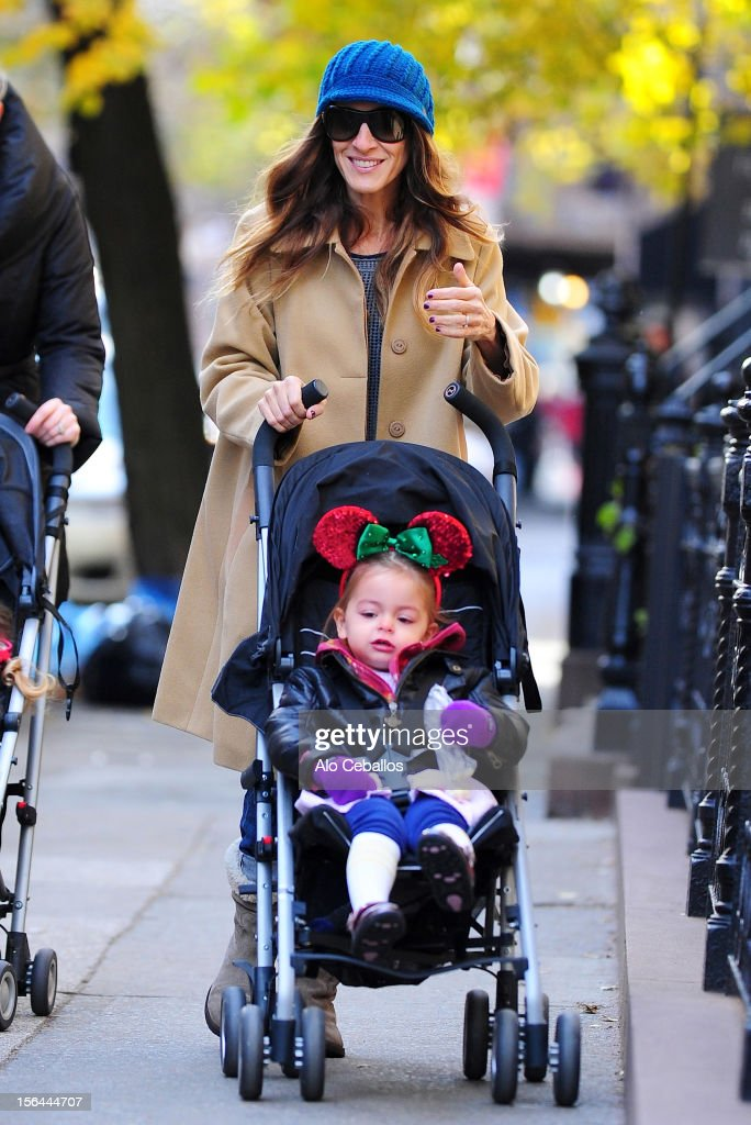 Sarah Jessica Parker and Tabitha Hodge Broderick are seen in the West Village at Streets of Manhattan on November 15, 2012 in New York City.