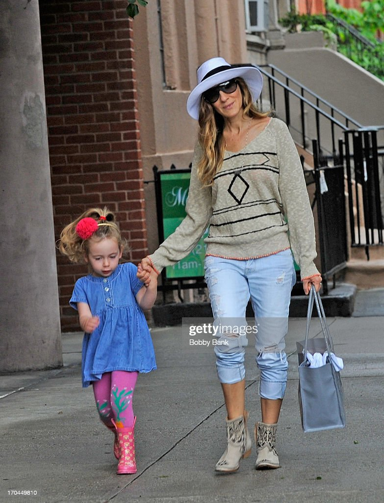 Sarah Jessica Parker and Tabitha Hodge Broderick seen in the West Village on June 13, 2013 in New York City.