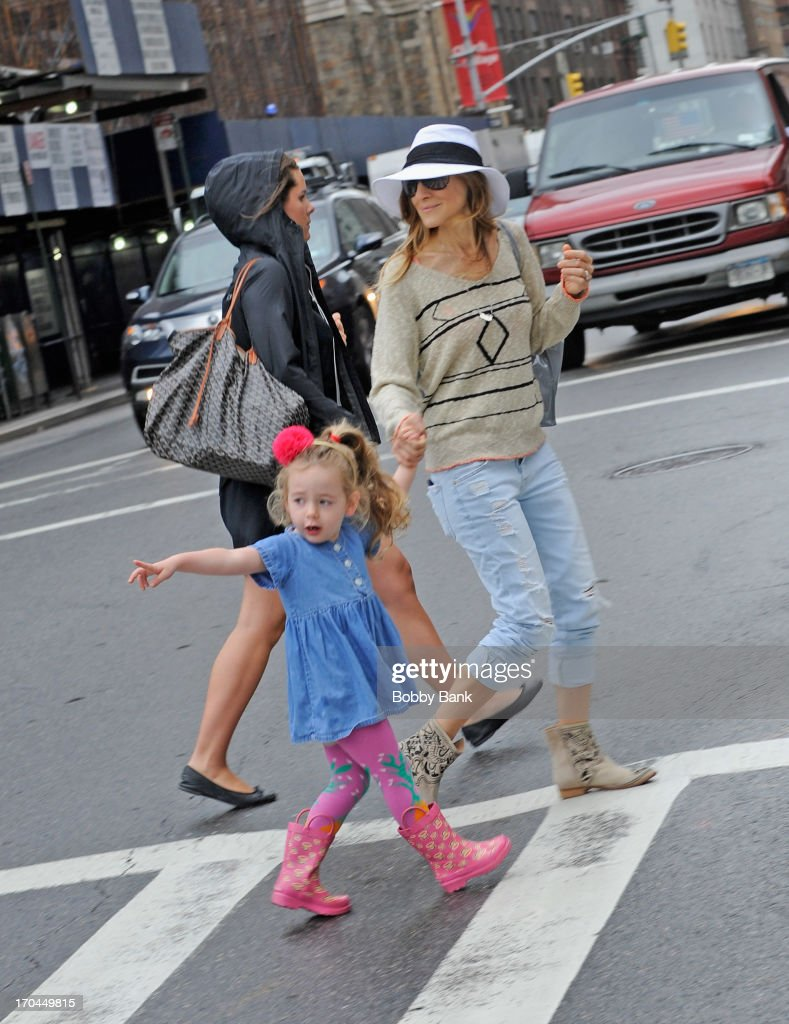 <a gi-track='captionPersonalityLinkClicked' href=/galleries/search?phrase=Sarah+Jessica+Parker&family=editorial&specificpeople=201693 ng-click='$event.stopPropagation()'>Sarah Jessica Parker</a> and <a gi-track='captionPersonalityLinkClicked' href=/galleries/search?phrase=Tabitha+Hodge+Broderick&family=editorial&specificpeople=5947262 ng-click='$event.stopPropagation()'>Tabitha Hodge Broderick</a> seen in the West Village on June 13, 2013 in New York City.