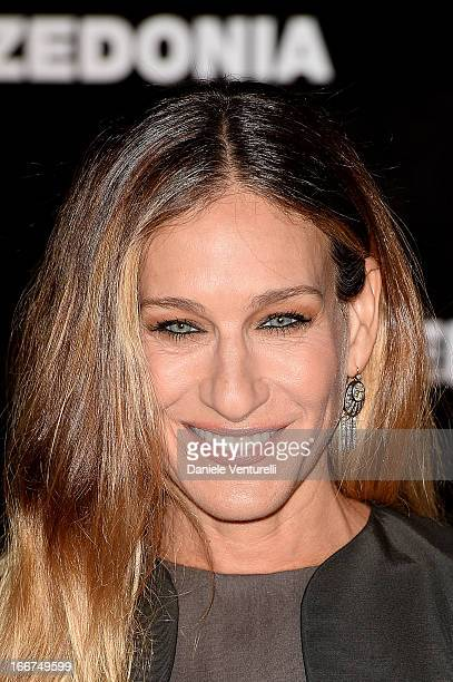 Sarah Jessica Parker arrives at the Calzedonia 'Forever Together' show on April 16 2013 in Rimini Italy