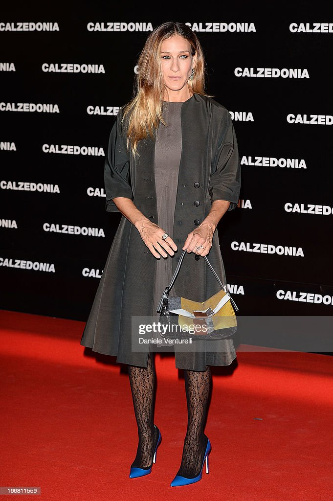 Sarah Jessica Parker arrives at the Calzedonia Show Forever Together at Palazzo dei Congressi on April 16, 2013 in Rimini, Italy.