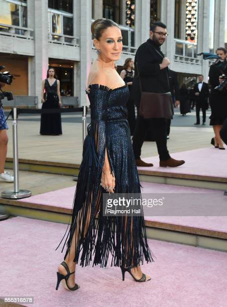 Sarah Jessica Parker attend the New York City Ballet's 2017 Fall Fashion Gala at David H Koch Theater at Lincoln Center on September 28 2017 in New...