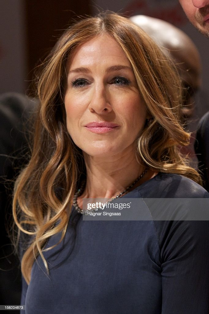 <a gi-track='captionPersonalityLinkClicked' href=/galleries/search?phrase=Sarah+Jessica+Parker&family=editorial&specificpeople=201693 ng-click='$event.stopPropagation()'>Sarah Jessica Parker</a> attends a press conference ahead of the Nobel Peace Prize Concert at Radisson Blu Plaza Hotel on December 11, 2012 in Oslo, Norway.