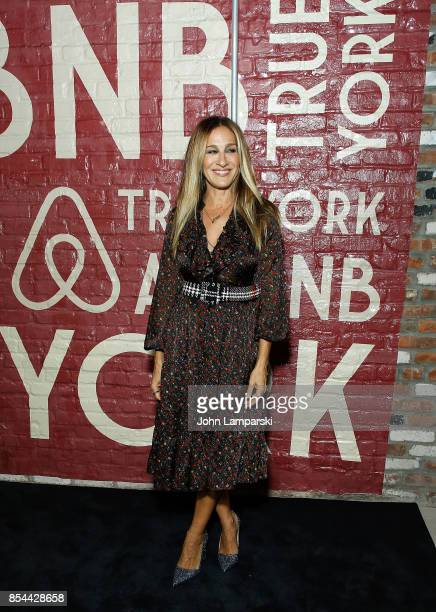 Sarah Jessica Parker attends Airbnb presents True York on September 26 2017 in New York City