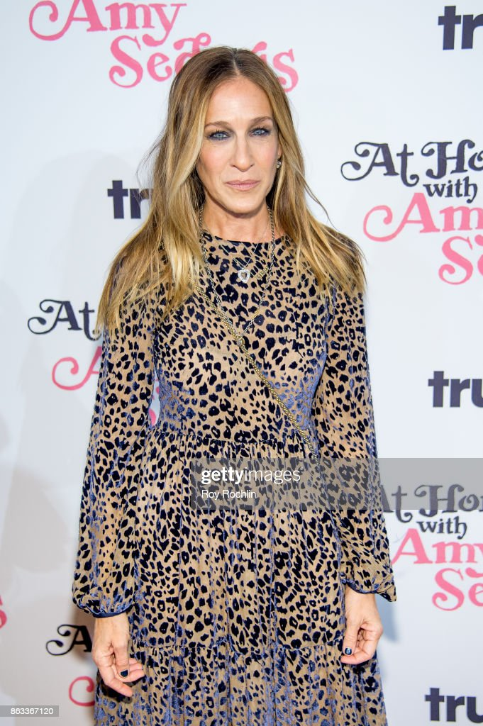Sarah Jessica Parker attends 'At Home With Amy Sedaris' New York Screening at The Bowery Hotel on October 19, 2017 in New York City.