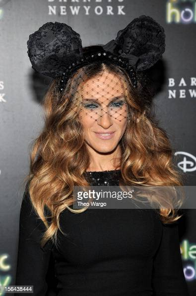 Sarah Jessica Parker attends Barneys New York And Disney Electric Holiday Window Unveiling Hosted By Sarah Jessica Parker Bob Iger And Mark Lee on...