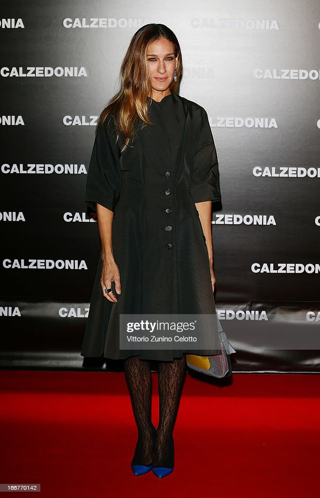 Sarah Jessica Parker attends Calzedonia Summer Show Forever Together on April 16, 2013 in Rimini, Italy.