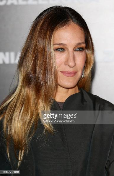 Sarah Jessica Parker attends Calzedonia Summer Show Forever Together on April 16 2013 in Rimini Italy