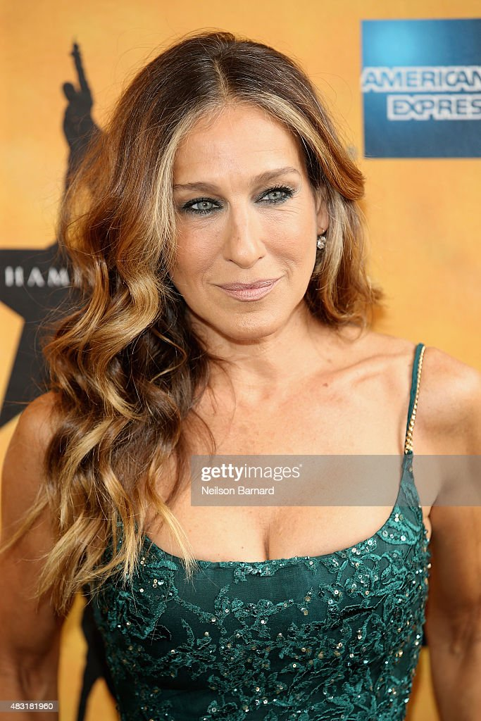 <a gi-track='captionPersonalityLinkClicked' href=/galleries/search?phrase=Sarah+Jessica+Parker&family=editorial&specificpeople=201693 ng-click='$event.stopPropagation()'>Sarah Jessica Parker</a> attends 'Hamilton' Broadway Opening Night at Richard Rodgers Theatre on August 6, 2015 in New York City.