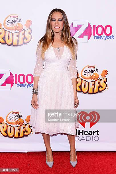 Sarah Jessica Parker attends iHeartRadio Jingle Ball 2014 hosted by Z100 New York and presented by Goldfish Puffs at Madison Square Garden on...