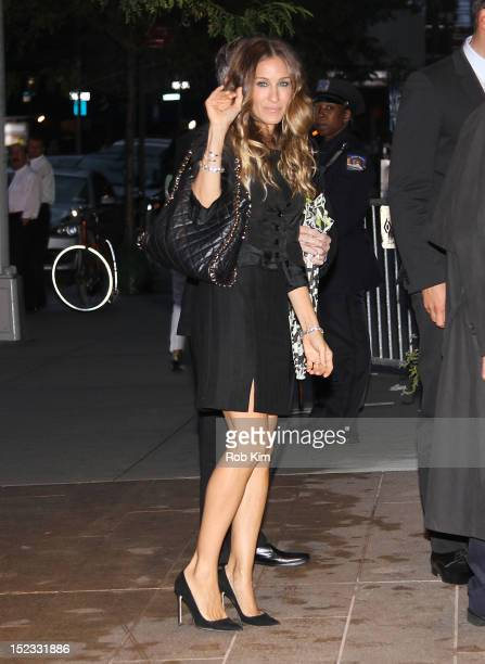 Sarah Jessica Parker attends Marvin Hamlisch Memorial Service at Peter Jay Sharp Theater on September 18 2012 in New York City