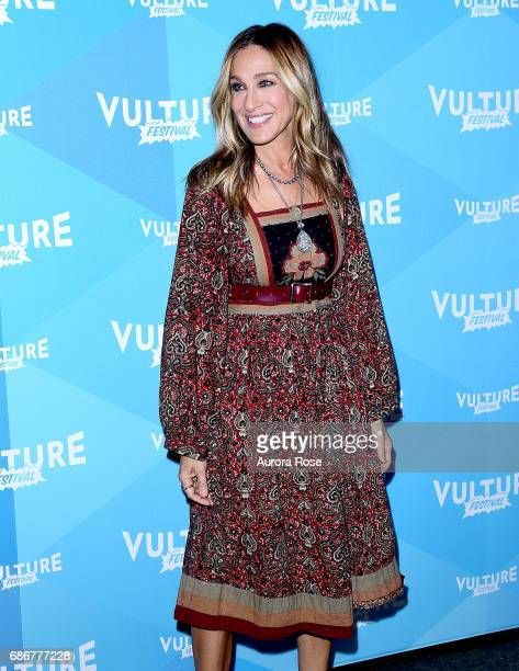 Sarah Jessica Parker attends Sarah Jessica Parker and Adam Moss In Conversation during the Vulture Festival at Milk Studios on May 21 2017 in New...