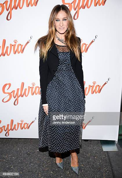 Sarah Jessica Parker attends 'Sylvia' Opening Night on Broadway at Cort Theatre on October 27 2015 in New York City
